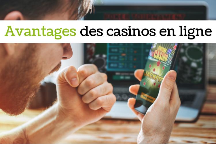 Joueur de casino en ligne en train de gagner un bonus